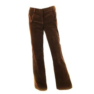 Chocolate brown PARAMETER velvet flare tuxedo pant